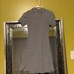 Black and whit striped dress